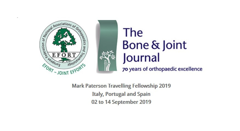 Mark Paterson Travelling Fellowship 2019 – Call for Applications is
